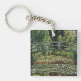Claude Monet - The Japanese Footbridge Single-Sided Square Acrylic Keychain