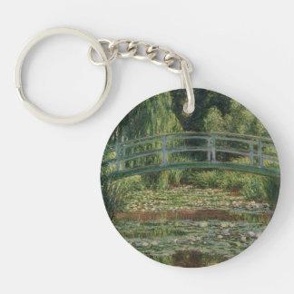 Claude Monet - The Japanese Footbridge Single-Sided Round Acrylic Keychain