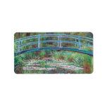 Claude Monet The Japanese Footbridge Custom Address Label
