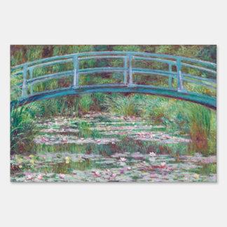 Claude Monet The Japanese Footbridge Lawn Sign