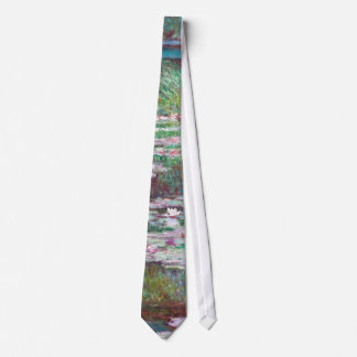Claude Monet The Japanese Footbridge Neck Tie
