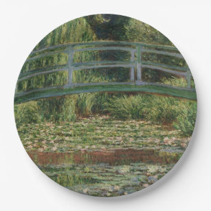 Claude Monet - The Japanese Footbridge Paper Plate  sc 1 st  Zazzle & Japanese Plates | Zazzle