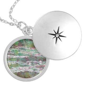 Claude Monet The Japanese Footbridge Silver Plated Necklace