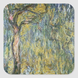 Claude Monet | The Large Willow at Giverny, 1918 Square Sticker