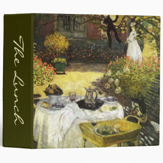 Claude Monet: The Lunch 3 Ring Binder