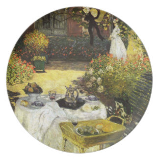 Claude Monet: The Lunch Dinner Plate