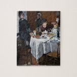Claude Monet - The lunch on table Jigsaw Puzzle