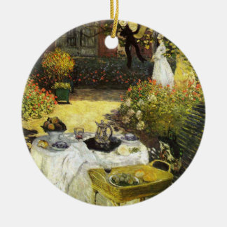 Claude Monet: The Lunch Double-Sided Ceramic Round Christmas Ornament