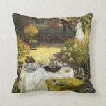 Claude Monet: The Lunch Throw Pillows
