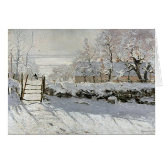 CLAUDE MONET THE MAGPIE CARD