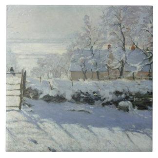 Claude Monet - The Magpie Ceramic Tile