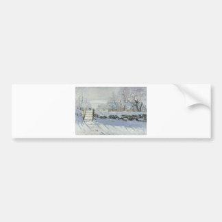 Claude Monet - The Magpie Classic painting Bumper Sticker