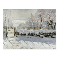 CLAUDE MONET THE MAGPIE POSTCARD