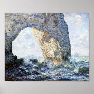 Claude Monet The Manneporte (Étretat) Poster