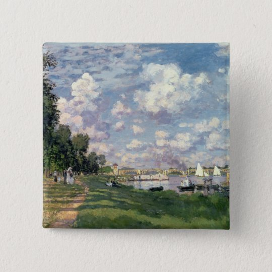Claude Monet | The Marina at Argenteuil, 1872 Button