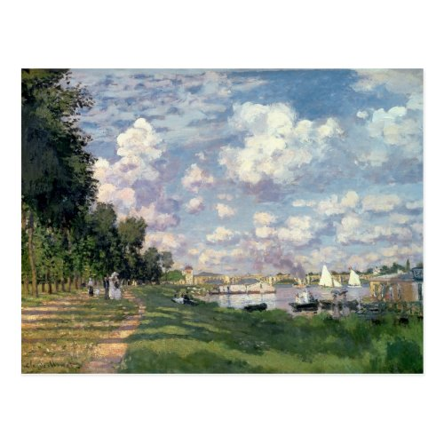 Claude Monet  The Marina at Argenteuil 1872 Postcard