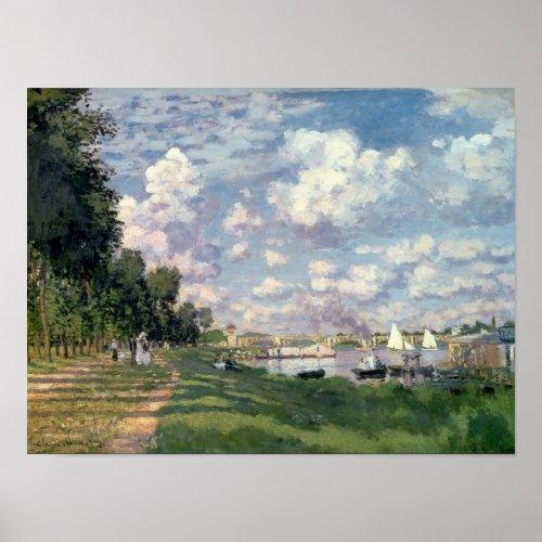 Claude Monet  The Marina at Argenteuil 1872 Poster