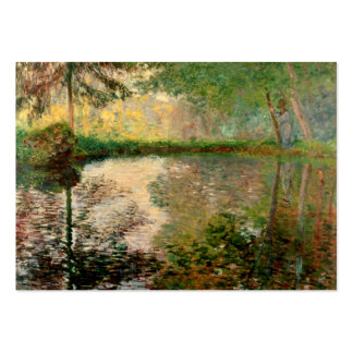Claude Monet: The Pond at Montgeron Large Business Cards (Pack Of 100)
