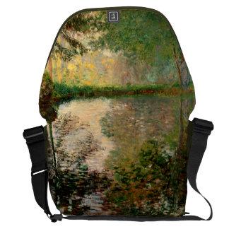 Claude Monet: The Pond at Montgeron Messenger Bag