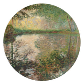 Claude Monet: The Pond at Montgeron Dinner Plates