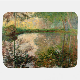 Claude Monet: The Pond at Montgeron Receiving Blanket