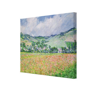 Claude Monet | The Poppy Field near Giverny, 1885 Canvas Print