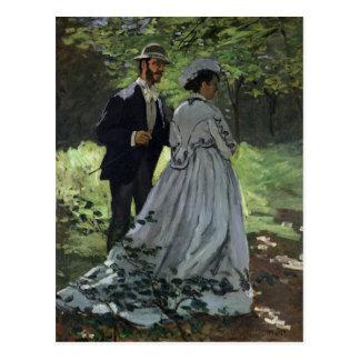 Claude Monet | The Promenaders, Bazille, Camille Postcard