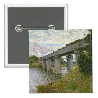Claude Monet | The Railway Bridge at Argenteuil Button