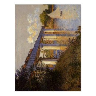 Claude Monet The Railway Bridge at Argenteuil Le P Postcard