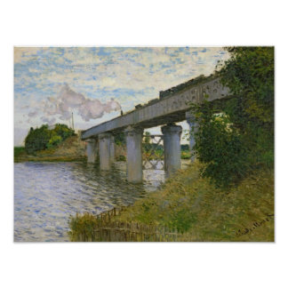 Claude Monet | The Railway Bridge at Argenteuil Poster