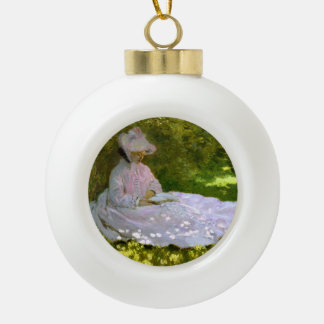 Claude Monet: The Reader Ceramic Ball Christmas Ornament