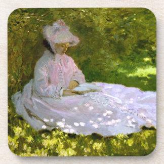 Claude Monet: The Reader Beverage Coasters