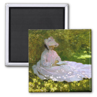 Claude Monet: The Reader 2 Inch Square Magnet