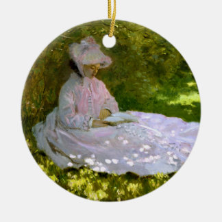 Claude Monet: The Reader Double-Sided Ceramic Round Christmas Ornament