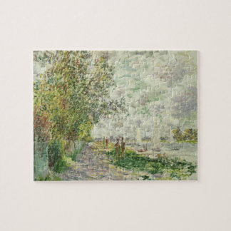 Claude Monet | The Riverbank at Gennevilliers Jigsaw Puzzle