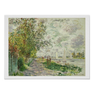 Claude Monet | The Riverbank at Gennevilliers Poster