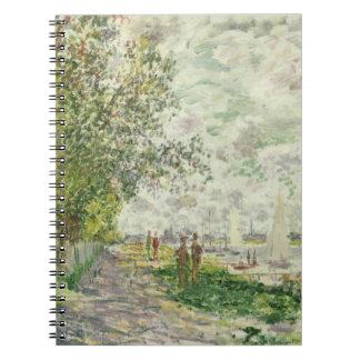 Claude Monet | The Riverbank at Gennevilliers Spiral Notebook