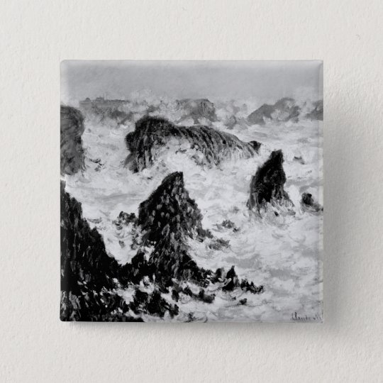 Claude Monet | The Rocks of Belle-Ile, 1886 Pinback Button