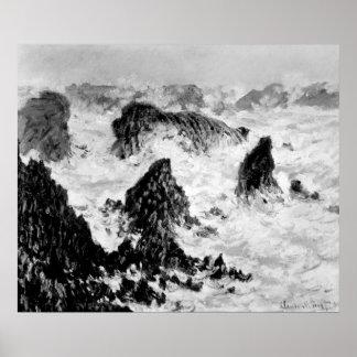 Claude Monet   The Rocks of Belle-Ile, 1886 Poster