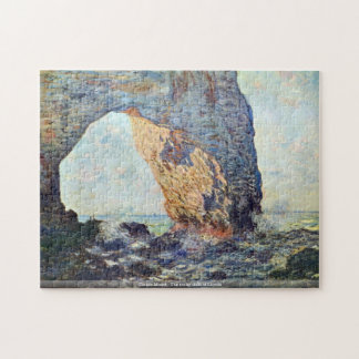 Claude Monet - The rocky cliffs of Etretat Jigsaw Puzzle