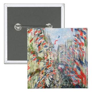 Claude Monet | The Rue Montorgueil, Paris Pinback Button