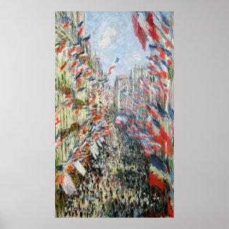 Claude Monet | The Rue Montorgueil, Paris Poster