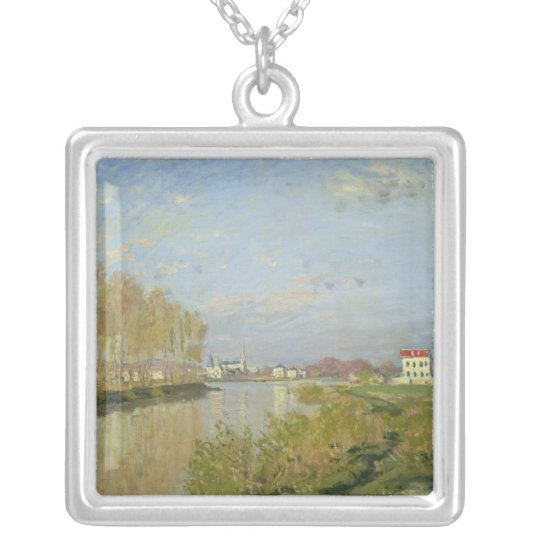 Claude Monet | The Seine at Argenteuil, 1873 Silver Plated Necklace