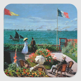 Claude Monet | The Terrace at Sainte-Adresse, 1867 Square Sticker