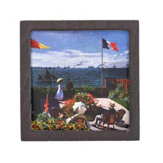 Claude Monet-The Terrace at Sainte-Adresse Jewelry Box