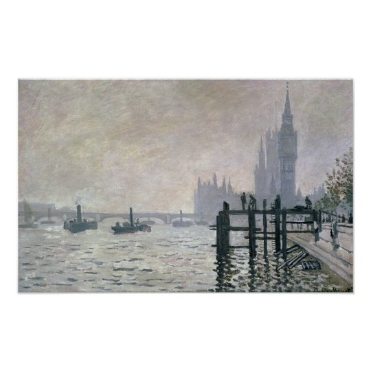 Claude Monet   The Thames below Westminster Poster