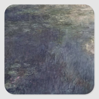 Claude Monet | The Waterlilies The Clouds 1914-18 Square Sticker