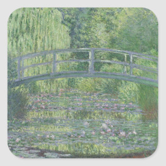 Claude Monet | The Waterlily Pond: Green Harmony Square Sticker