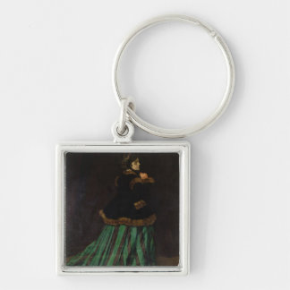 Claude Monet   The Woman in the Green Dress, 1866 Keychain