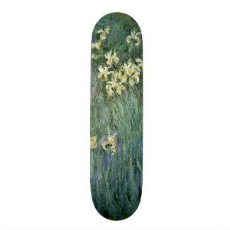 Claude Monet   The Yellow Irises Skateboard Deck